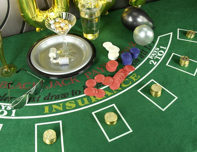 James Bond Party Casino Mat