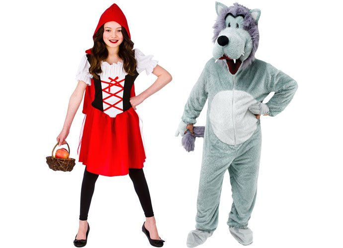 little red riding hood and wolf costumes - Little Miss Sunshine Halloween Costume