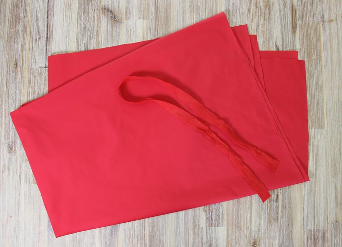 DIY Little Red Riding Hood Cape Step 1