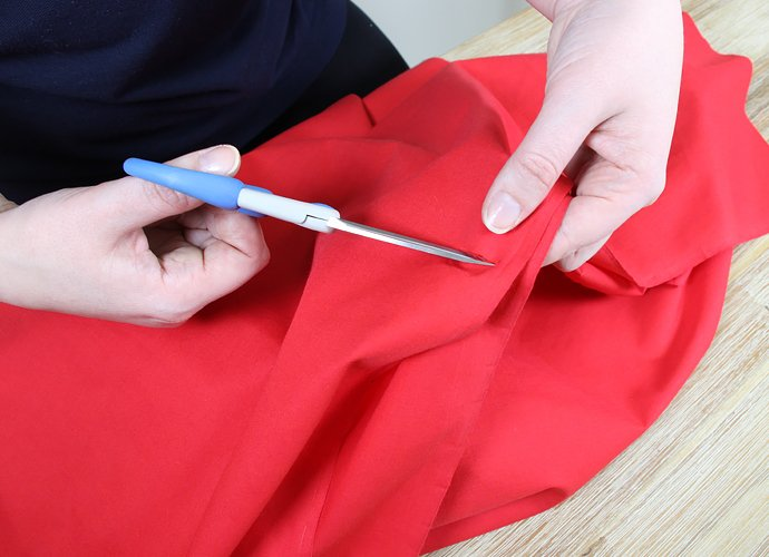 DIY Little Red Riding Hood Cape Step 3