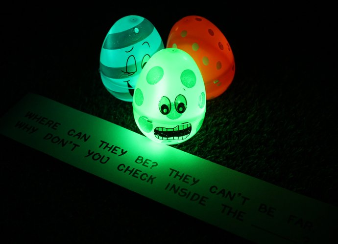 Glow in the Dark Easter Egg Hunt Clues