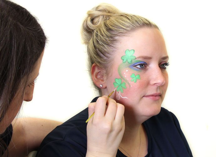 St Patrick's Day Shamrock Face Paint Step 5