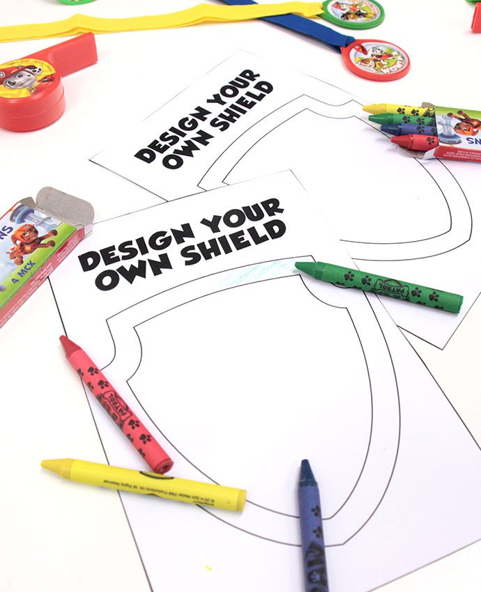 Paw Patrol Game Design Your Own Shield