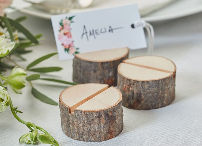 Bohemian Wedding Wooden Place Card Holders