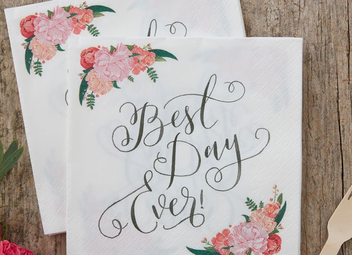 Boho Chic Wedding Napkins