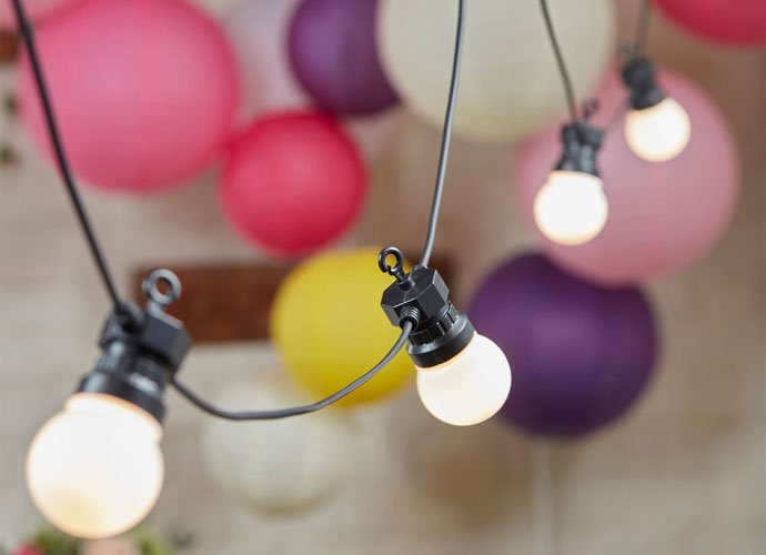 Boho Wedding Festoon Lights