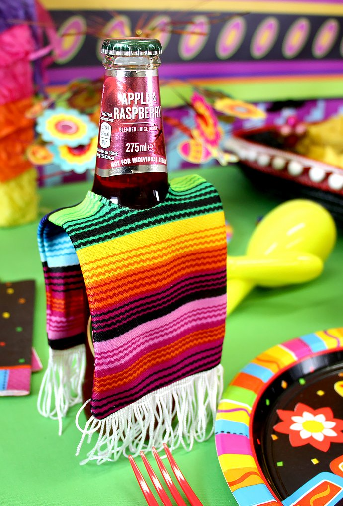 Mexican Fiesta Beer Bottle Ponchos