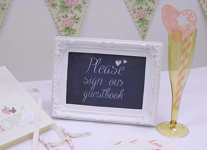 Please Sign Our Guestbook Chalkboard Wedding