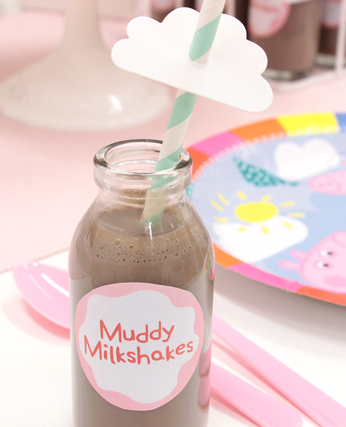 Peppa Pig Party Food - Muddy Milkshakes