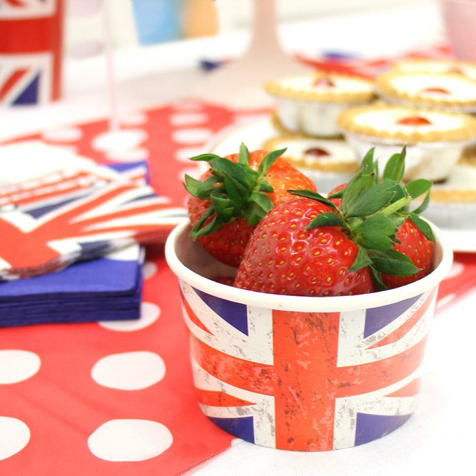 Union Jack Ice Cream Tubs