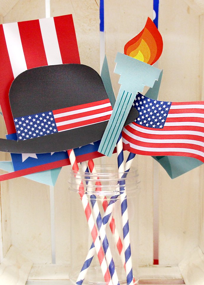 4th July Photo Props