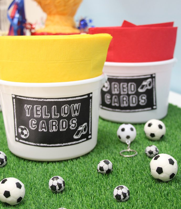 Free Football Party Printables - Red and Yellow Cards