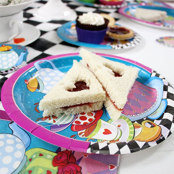 Jam Sandwiches with a Heart Cutout