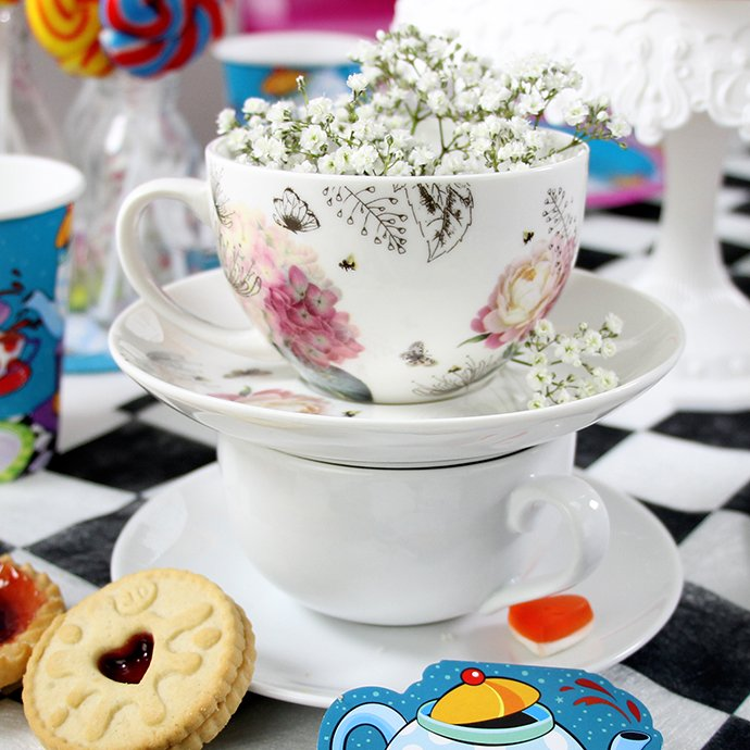 Mad Hatter's Tea Party Teacups