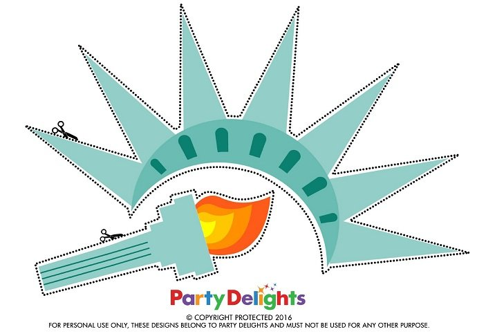 Free Printable Fourth of July Photo Props  Party Delights Blog