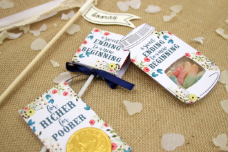 DIY Floral Wedding Favours