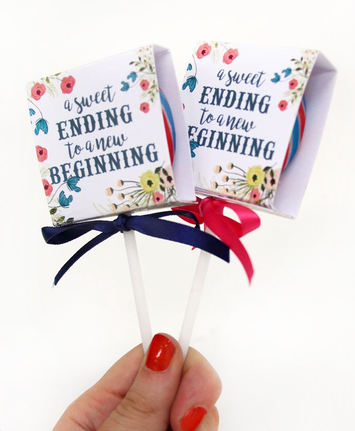 DIY Wedding Favours - Floral Lollipop Cover