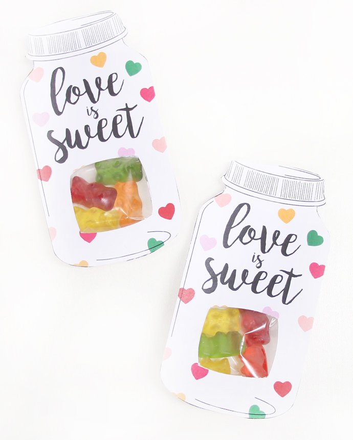 DIY Wedding Favours - Heart Sweet Jar Favour