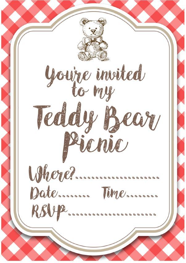 Teddy Bear Picnic Invites