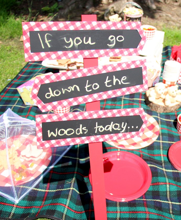 Teddy Bear Picnic Party Sign