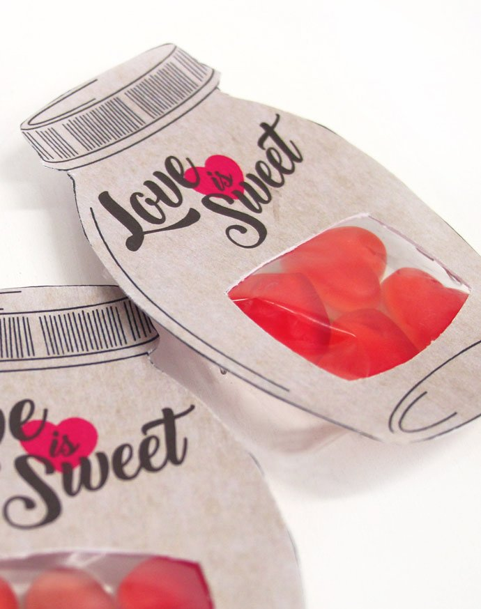 Vintage Sweet Jar Wedding Favour