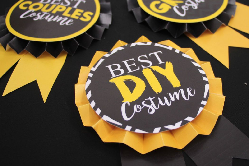 DIY Halloween Costume Competition Rosettes