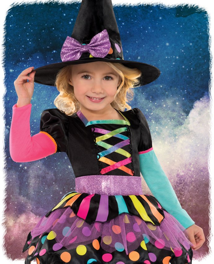 Miss Matched Witch Costume for Kids