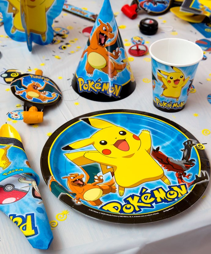 Pokemon Party Plates