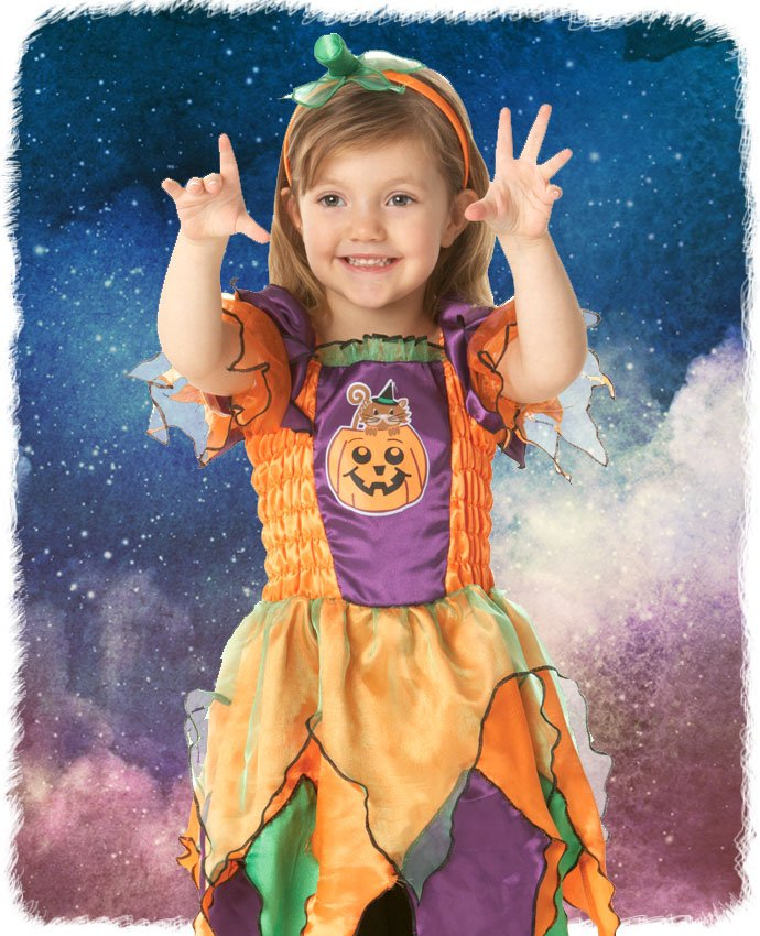 Pumpkin Witch Toddler Halloween Costume