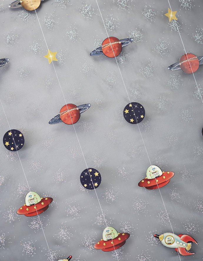 Outer Space Party Hanging Decorations