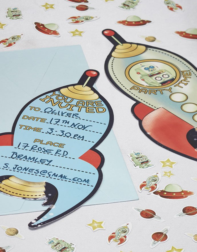 Rocket Ship Invitations