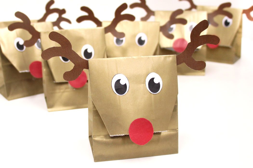 Reindeer Party Bags - Christmas DIY