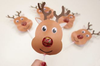 Free Printable Reindeer Lollipop Covers