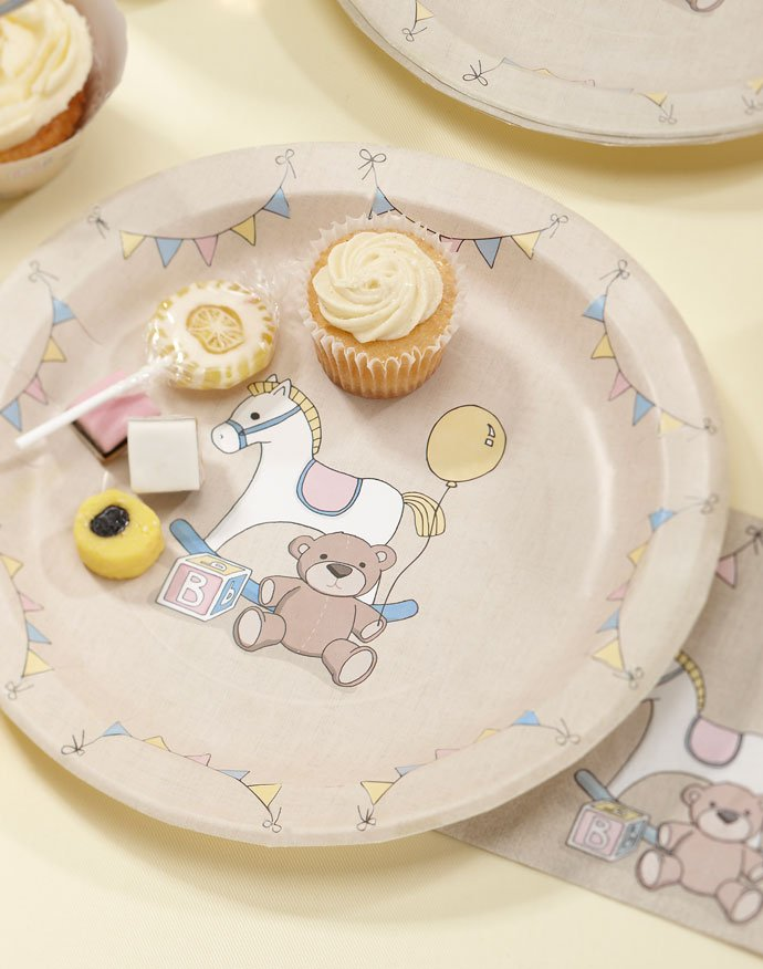 Rock-A-Bye Baby Party Plates