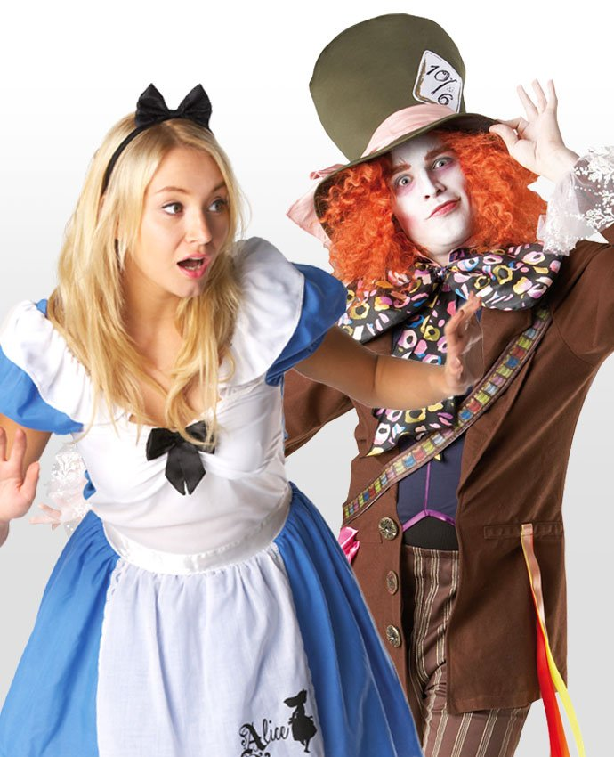 Alice in Wonderland and the Mad Hatter Couples Costume