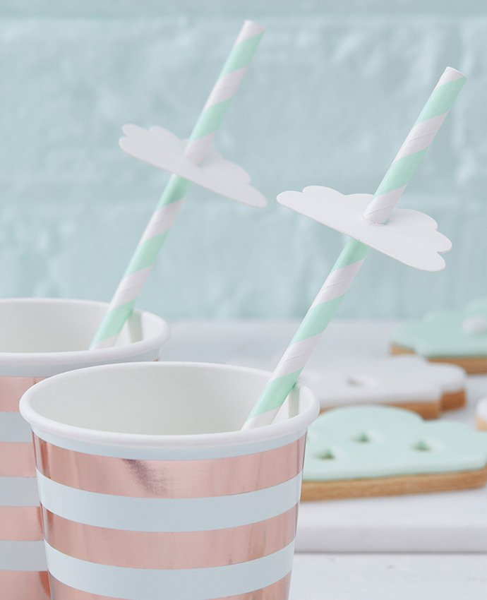 Cloud Straw Toppers
