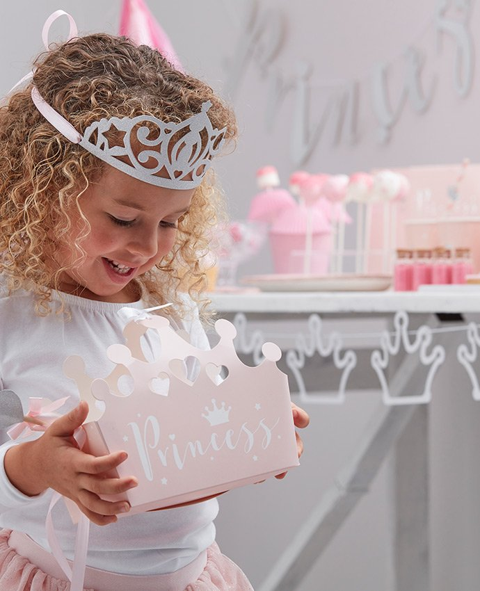 Girl with a Princess Party Box