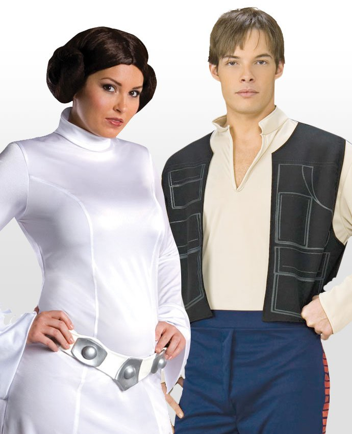 Hans Solo and Leia Couples Costume