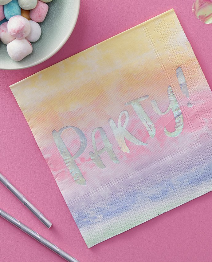 Iridescent Party Napkins
