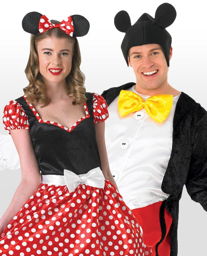 Mickey and Minnie Couples Costume  sc 1 st  Party Delights Blog & 17 Coupleu0027s Costume Ideas for You and Your Other Half | Party ...