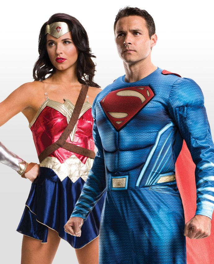 Superman and Wonder Woman Couples Costume