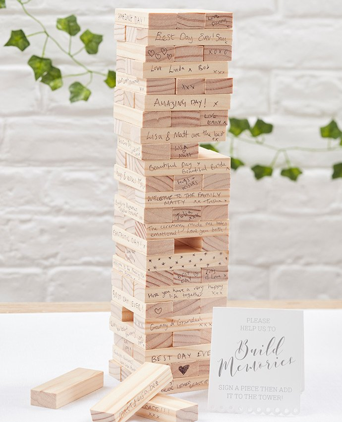 Jenga Wedding Guestbook