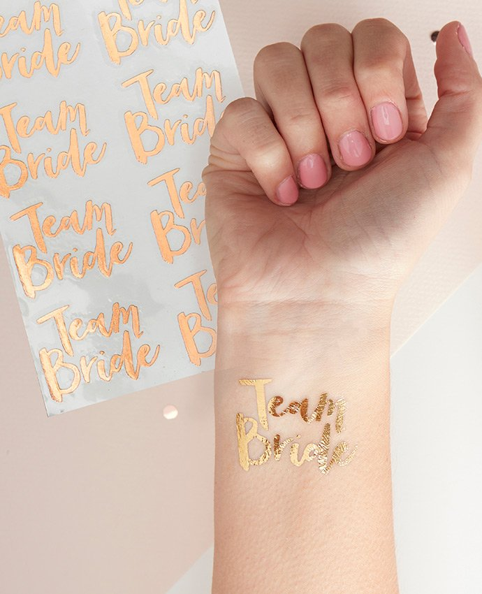 Team Bride Fake Tattoos
