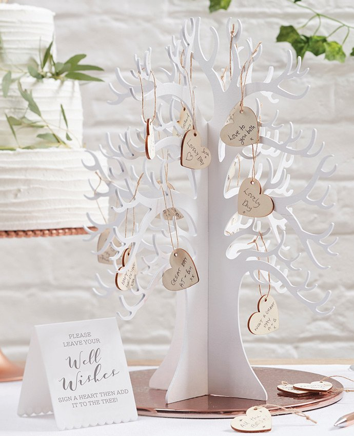 Wooden Wishing Tree Wedding Guest Book