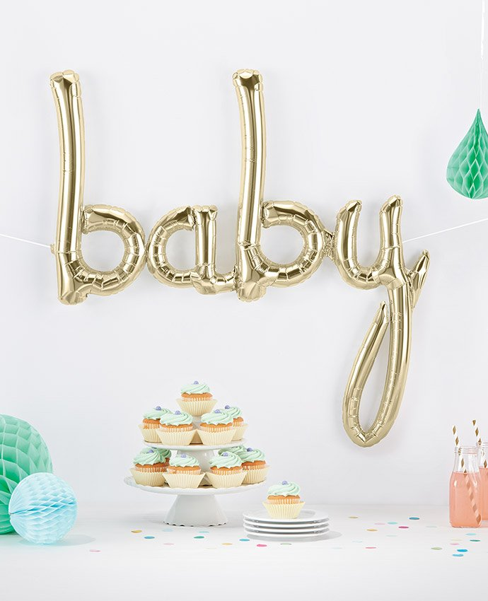 Gold Baby Balloon