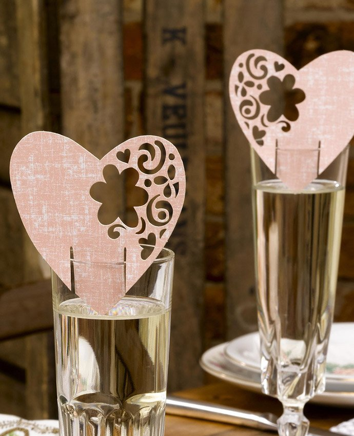 Pink Vintage Place Cards