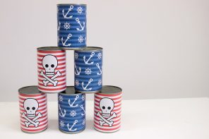 Pirate Tin Can Bowling