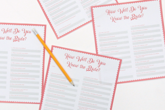 Printable How Well Do You Know the Bride Quiz