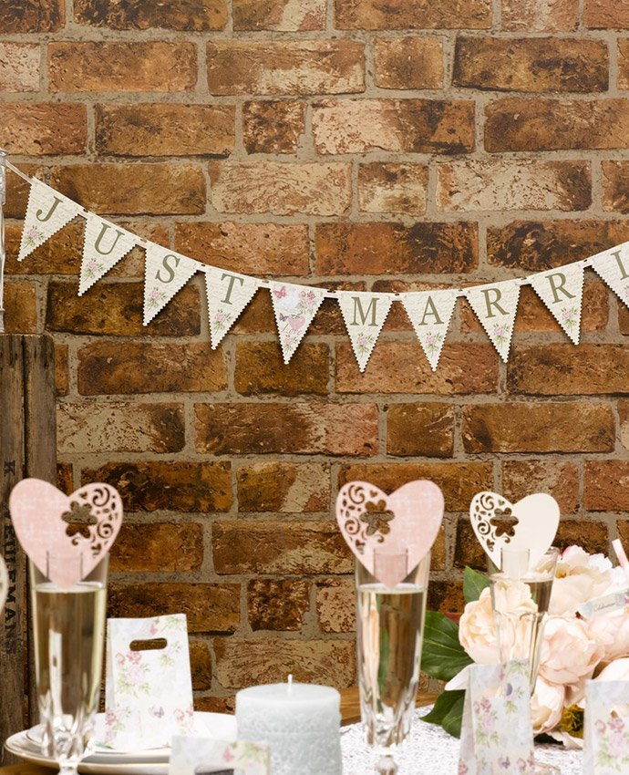 Inspiration for an elegant vintage wedding party delights blog vintage wedding just married bunting junglespirit Choice Image