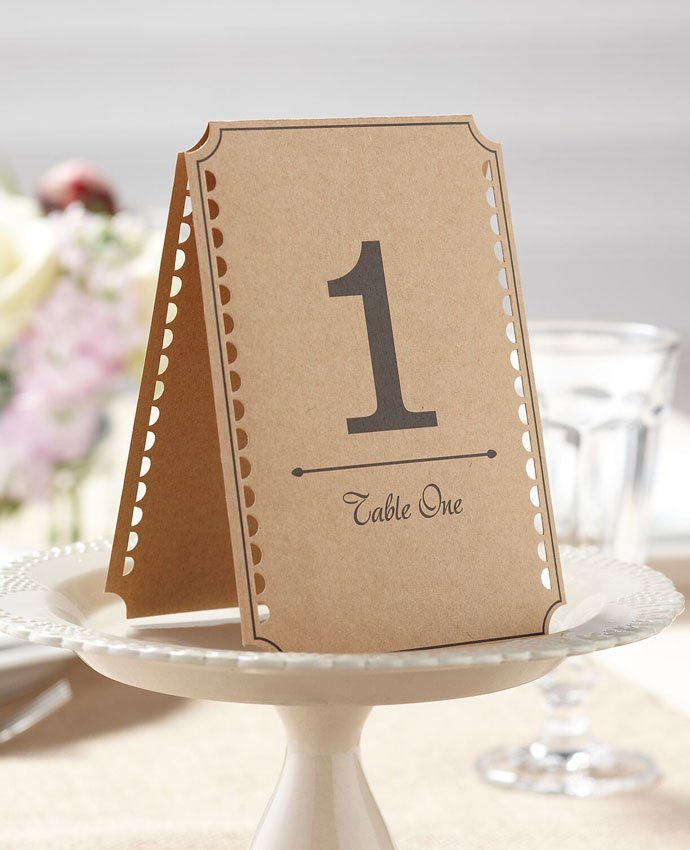 Cinema Ticket Wedding Table Numbers